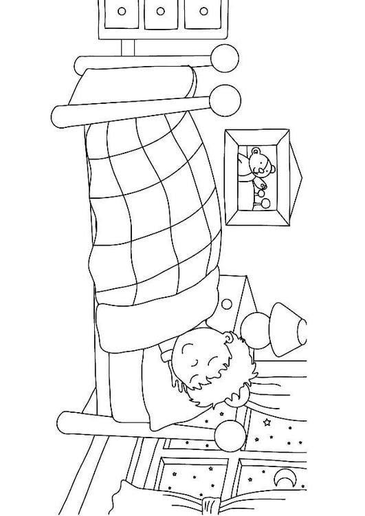 Dibujo Para Colorear Dormir Img 7319