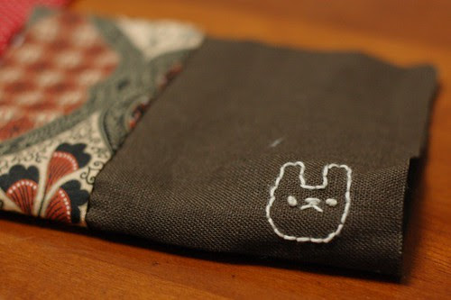 How to make a button pouch with two pockets 9