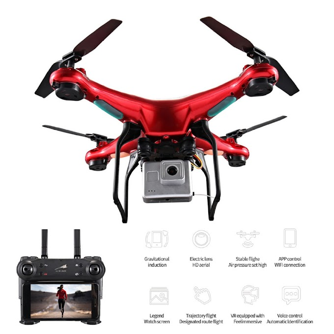 X52 0.3MP RC Drones with Camera HD Selfie Dron 6-Axis Remote Control Helicopter Quadcopter Profissional GPS Drone