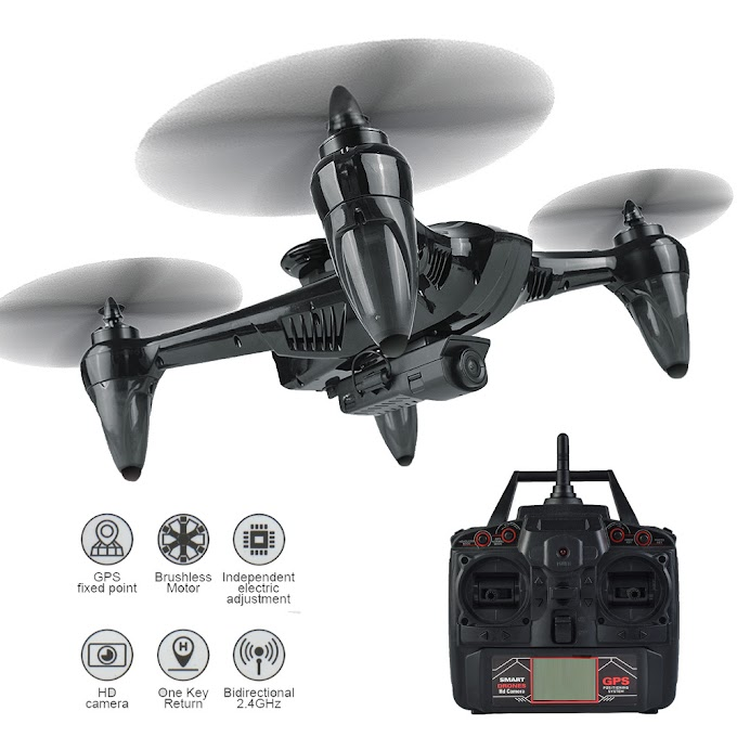 Professional Drone RC GPS Drone Four Axis Aircraft With Fixed Height 1080P WiFi Camera Quadrocopter RC Drone Model Toy VS F11