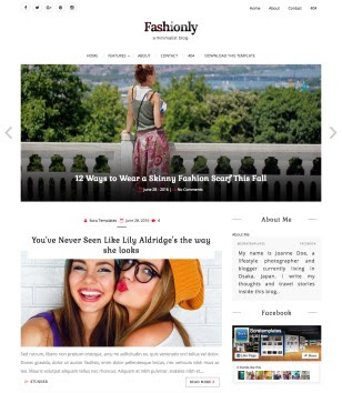 Fashionly Blogger Templates