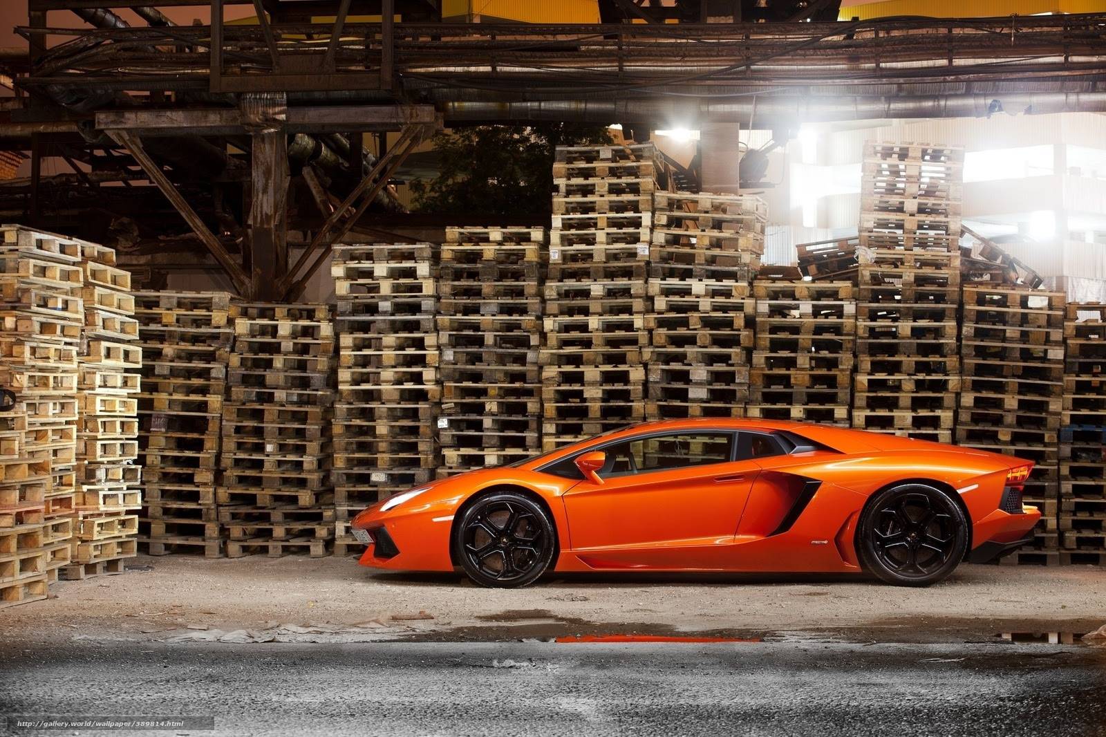 Download Wallpaper Lamborghini Aventador Orange Cars Free Desktop