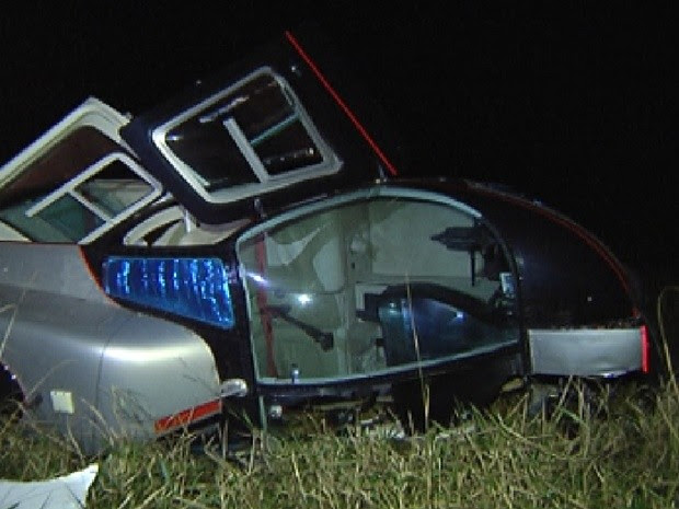 Suspeita é que aeronave tenha apresentado problemas mecânicos (Foto: Reprodução / TV Tem)