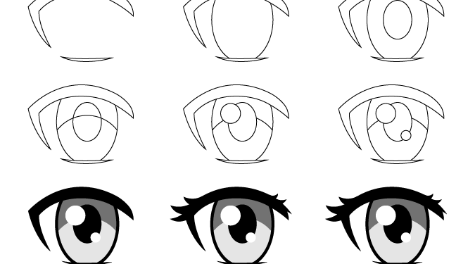 Anime Girl Eyes Drawing Easy Step By Step