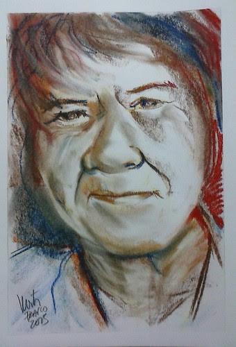 Face in pastels by dibujandoarte