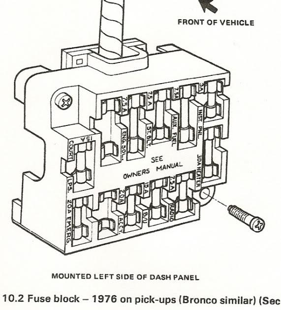 1976 ford f 150 fuse box diagram