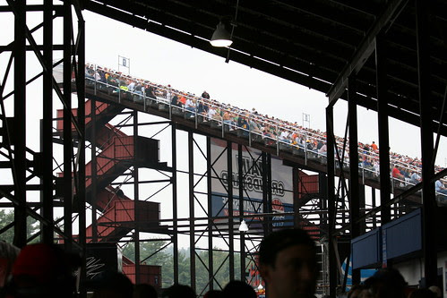 View of the stands from underneath