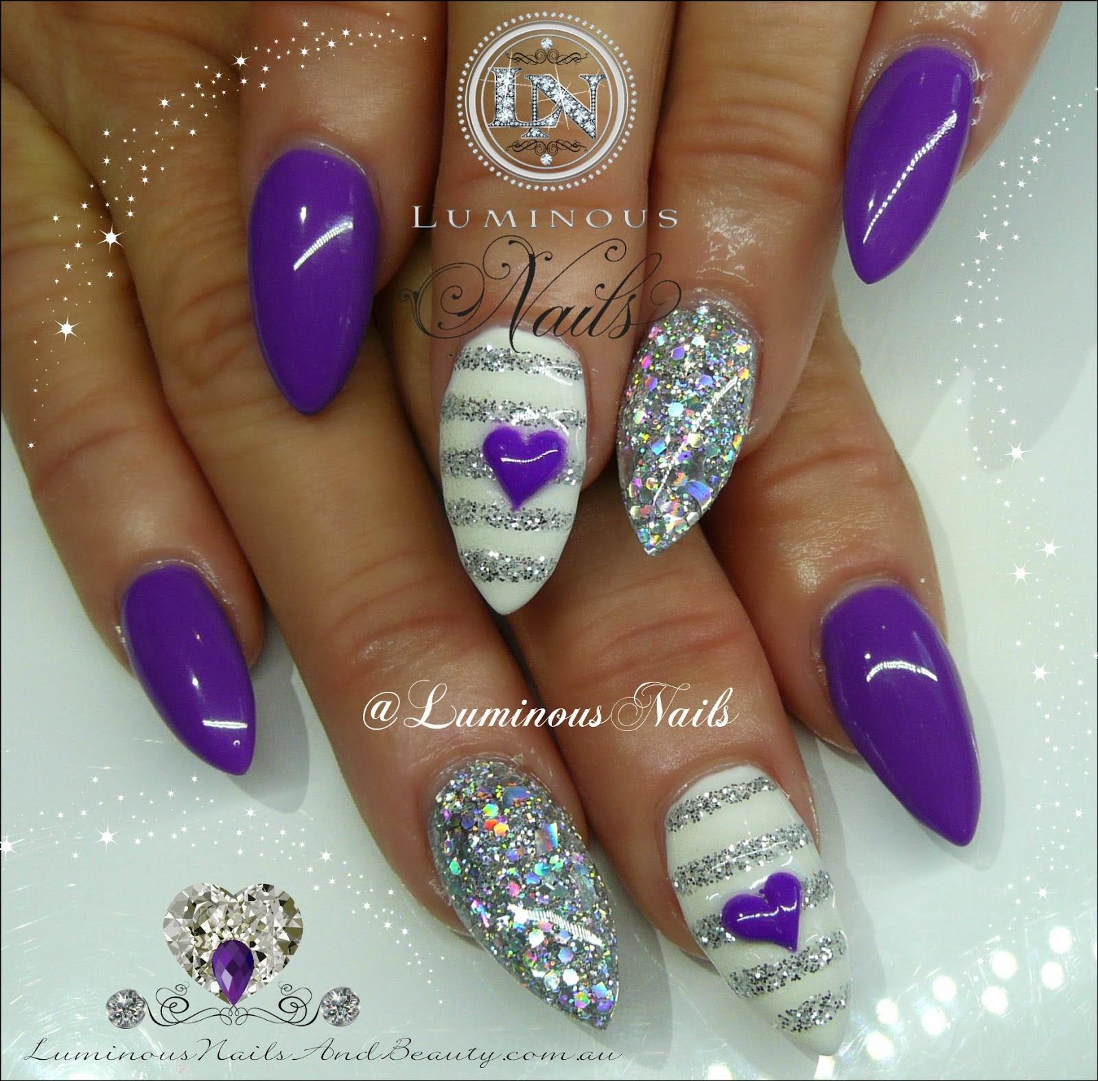 Acrylic Nails Designs Purple Ucapan Pernikahan