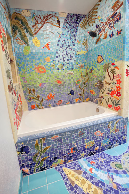 Vegan Mom Blog Therightonmom Bathroom Decorating With Mosaic Tile That Will Your Mind