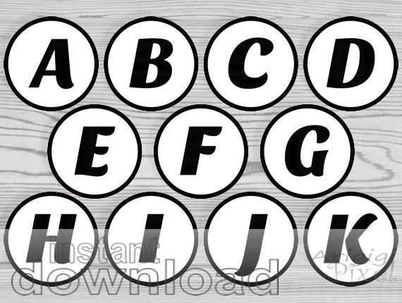 black letter number, party circles, printable 2 and half in ...