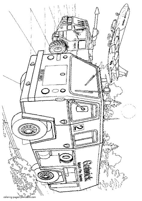 Fire truck IVECO. Coloring sheet || COLORING-PAGES