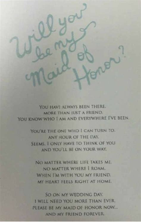 Awesome way to ask your friend to be the Maid of Honor