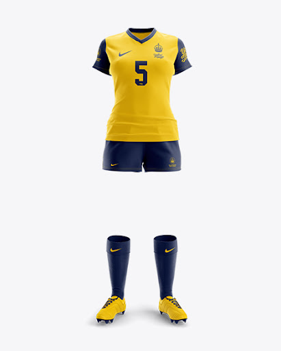 Download Free Women's Full Rugby Kit HQ Mockup - Front View (PSD)
