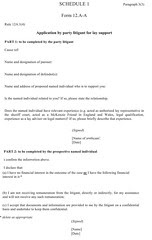 Act of Sederunt proposal for McKenzie Friend certificate