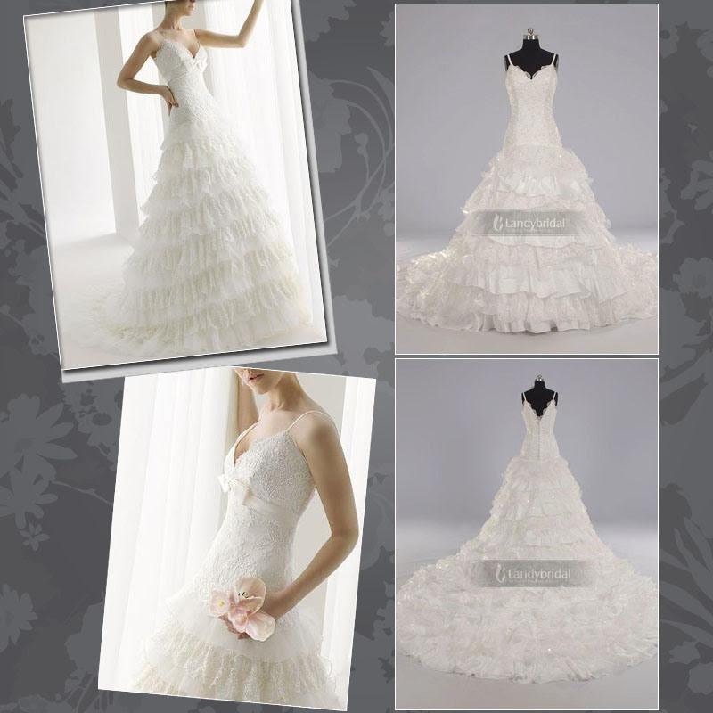 Gorgeous Wedding Dress Bridal Gown All Colors LB0385