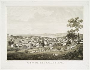 View of Peekskill 1851. Digital ID: 54891. New York Public Library