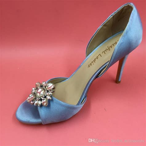 Light Blue Wedding Shoes Made To Order Wedding Pumps Satin