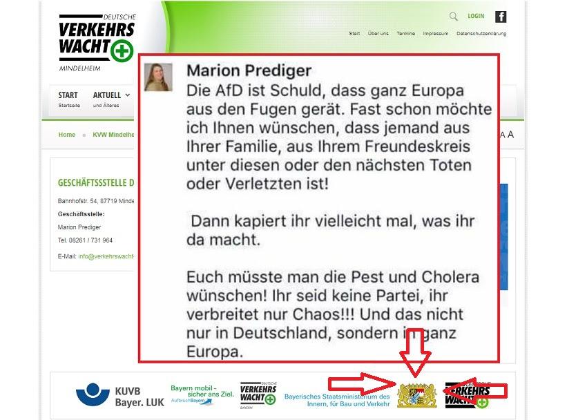 Gut sichtbar rechts unten: Das Logo des Freistaats Bayern.