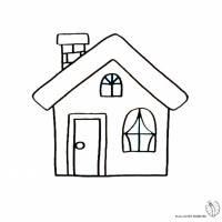 Disegno Di La Casa Da Colorare Per Bambini Disegnidacolorareonlinecom