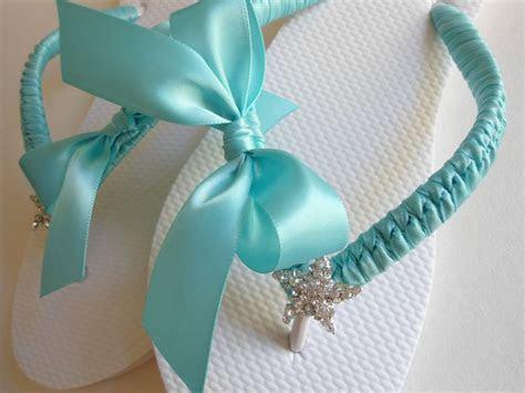 Blue Wedding flip flops, wedding shoes, wedding sandals