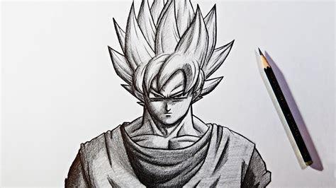 dragon ball super pencil drawing goku super saiyan