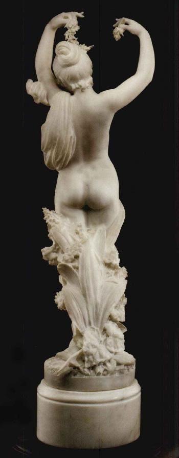 Cesare Lapini (Italian, 1848 - 1893) | Figure of Flora. Measurements: 37.00 in. (93.98 cm.) (height)