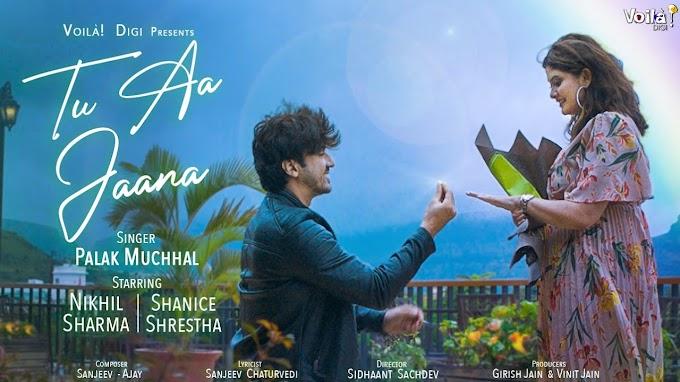 Tu Aa Jaana Lyrics by Palak Muchhal