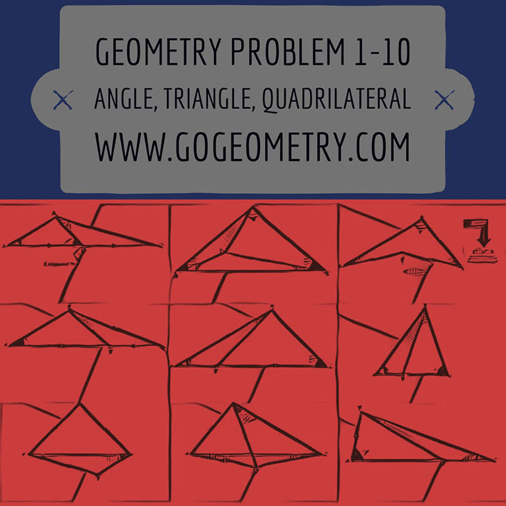 Geometric Art: Problems 1-10, Triangle, Angles, Auxiliary Lines, Congruence, Typography, iPad Apps, Software.