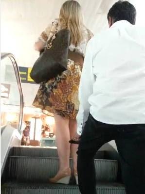 Funcionárias do aeroporto se uniram para denunciar suspeito, e registraram o assédio (Foto: Reprodução / Whats app)