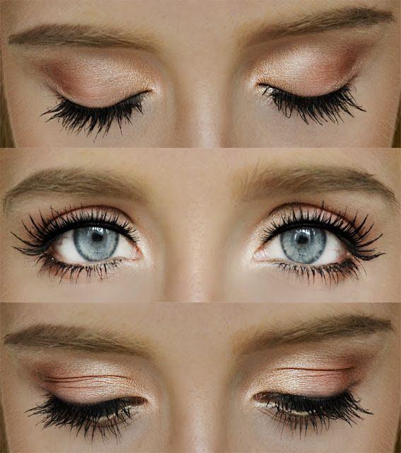 Natural eyeshadow tutorial for blue eyes