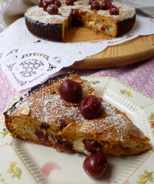 Craziness and More!: Hungarian Sour Cherry Coffee Cake