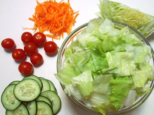 Grilled Chicken Salad prep