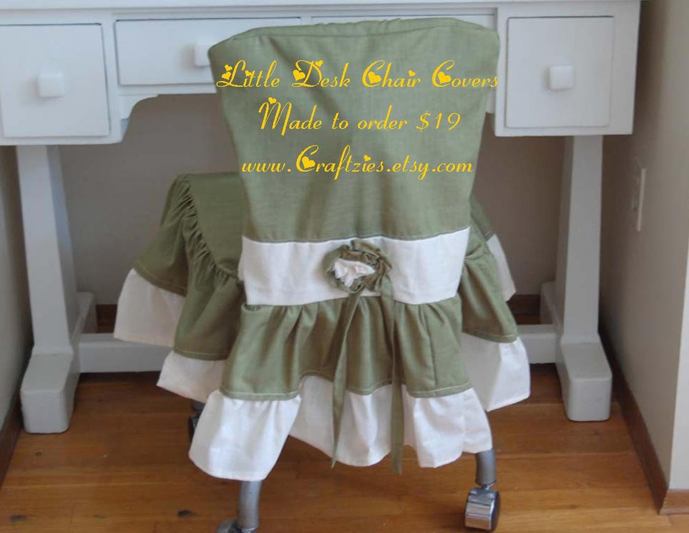 The Little Desk Chair Cover Made to Order by craftzies on Etsy