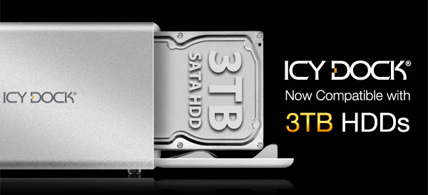 ICY DOCK Enclosure Now Compatible with 3TB HDDs