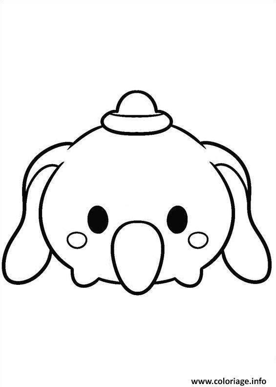 Coloriage Tsum Tsum Disney Dumbo Jecoloriecom
