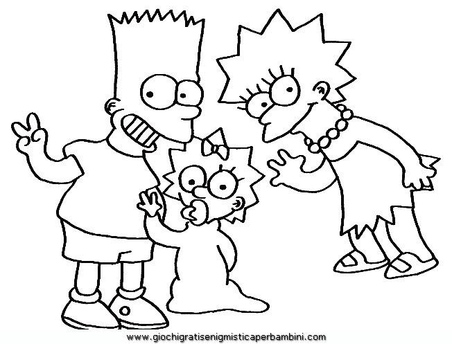 Simpson Disegno Migliori Pagine Da Colorare