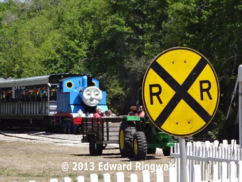 Thomas arriving into the station