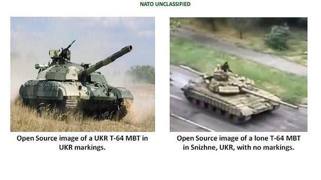 La OTAN publica las fotos de carros de combate rusos dentro de Ucrania