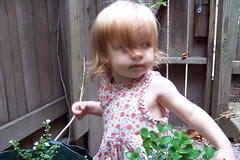 Alex in the garden