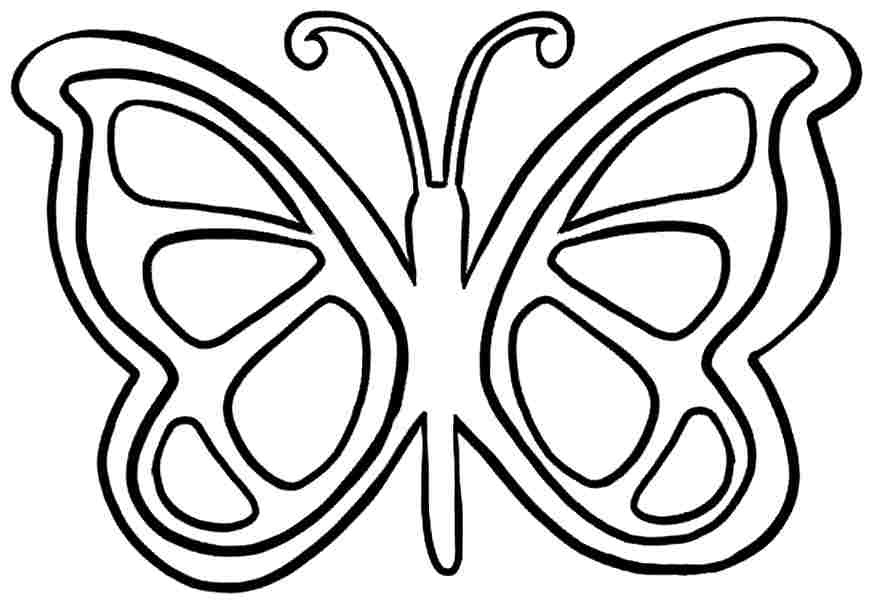Animal Butterfly Coloring Sheets Free Printable For ...