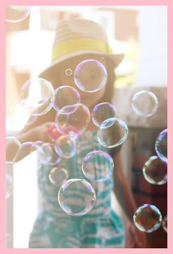 having a bubbly time...