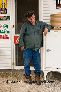 Gary Turner, Owner, Gay Parita Sinclair Station (Replica of 1930 Sinclair Station) on Old Route 66, Lawrence County, Missouri