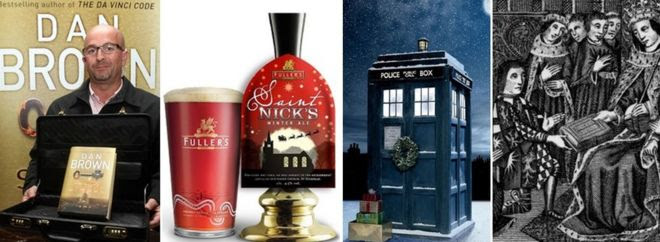 Dan Brown, St Nick's Ale, Dr Who, William Caxton