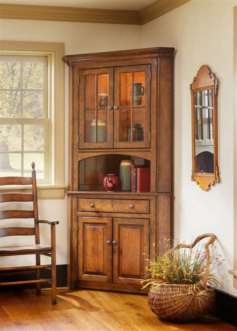 Shaker Corner China Cabinet   Town & Country Furniture