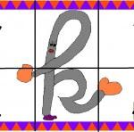 k 150x148 Crea entretenidos puzzles con las letras del abecedario
