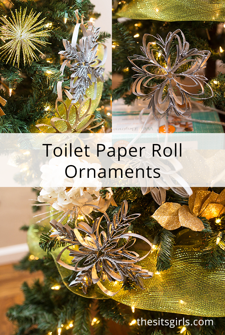 Handmade Christmas Tree Ornaments Toilet Paper Roll Ornaments