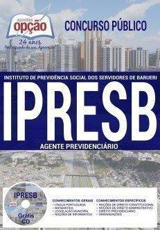 Apostila Concurso IPRESB 2017   AGENTE PREVIDENCIÁRIO