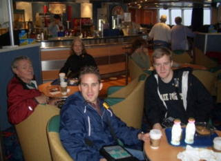 The early birds on the ferry to Nova Scotia