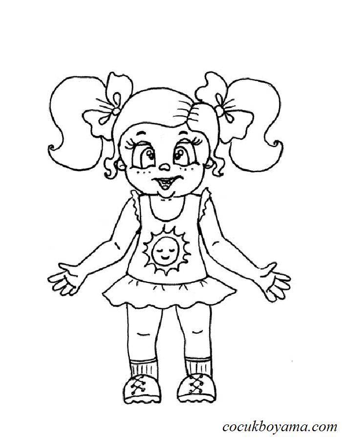 Aşık Bebek Boyama Sayfası