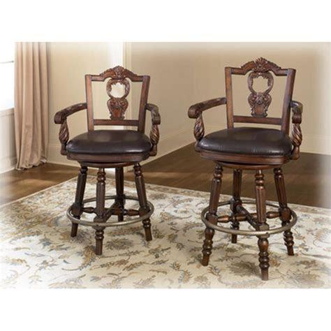 ashley furniture upholstered swivel barstool